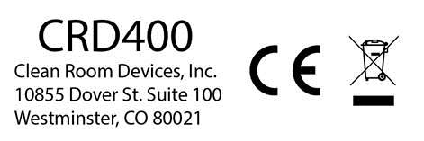 CRD400 Label